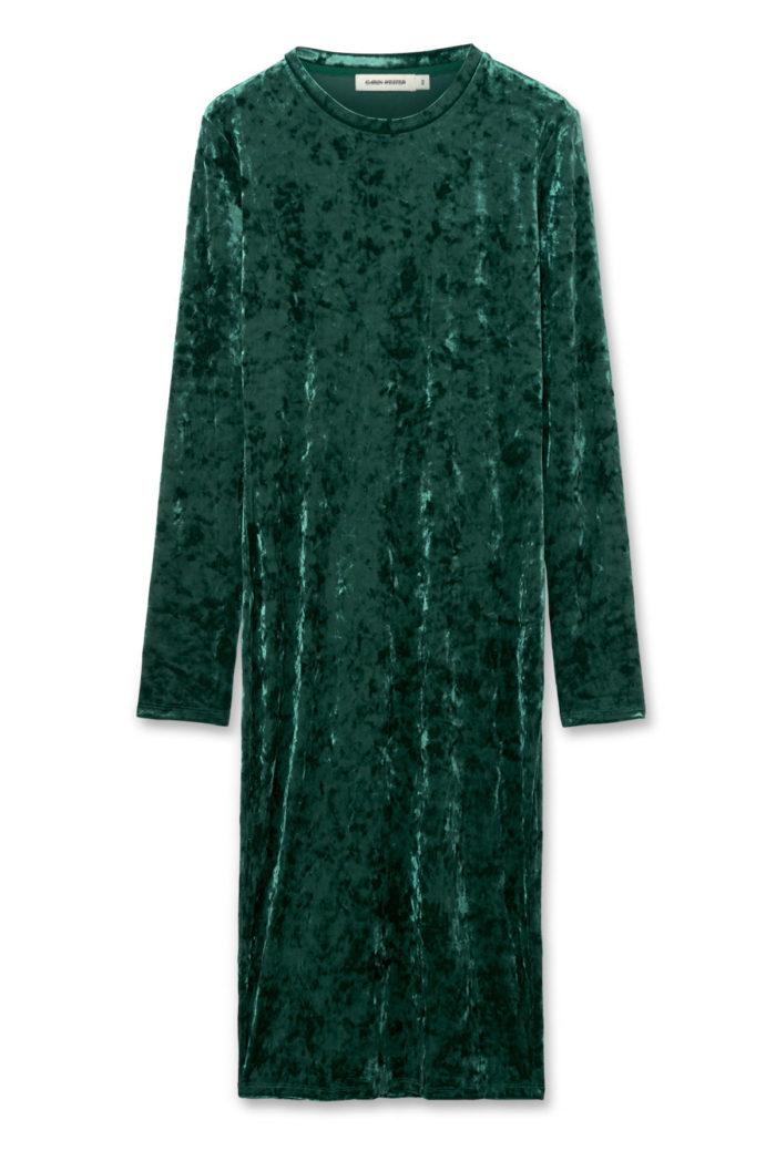 Grön sammetsklänning till julen