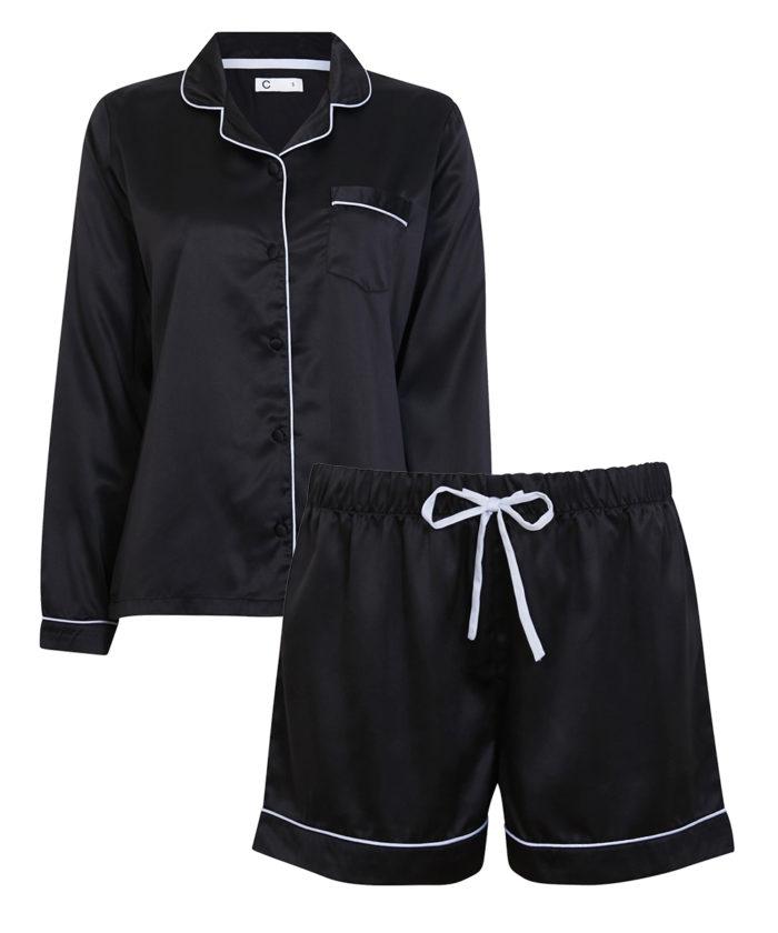 Svart pyjamas med shorts
