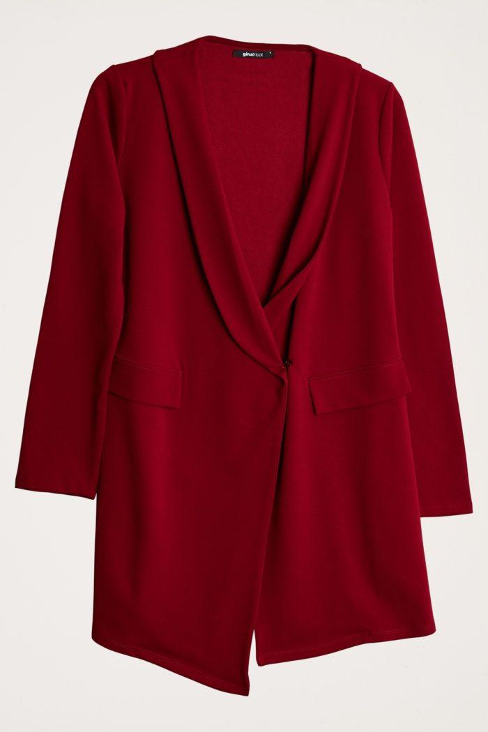 Röd julklänning från Gina tricot