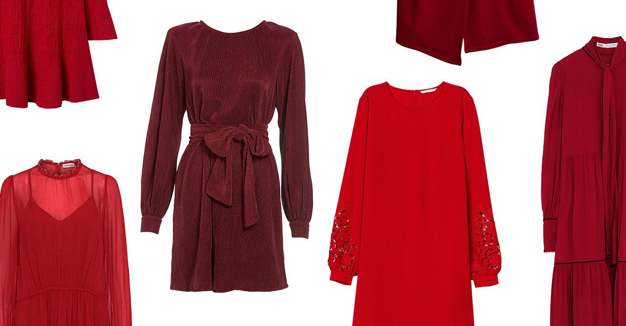 Röda klänningar till julfesten