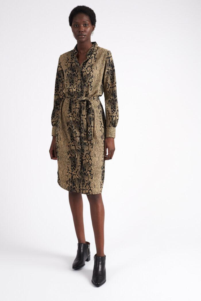 Leopardmönstrad klänning från Ichi
