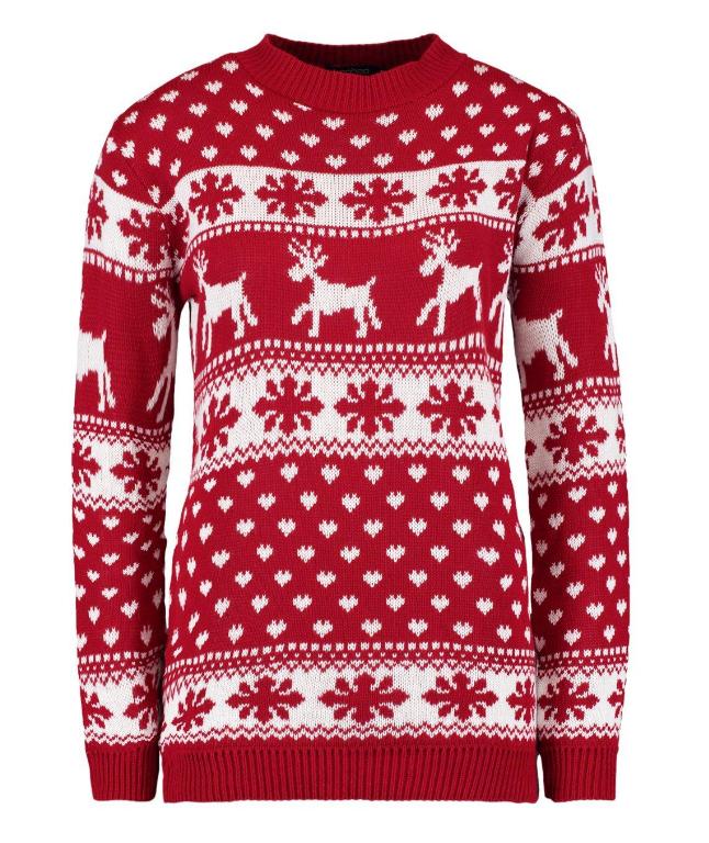 Stickad tröja till julafton