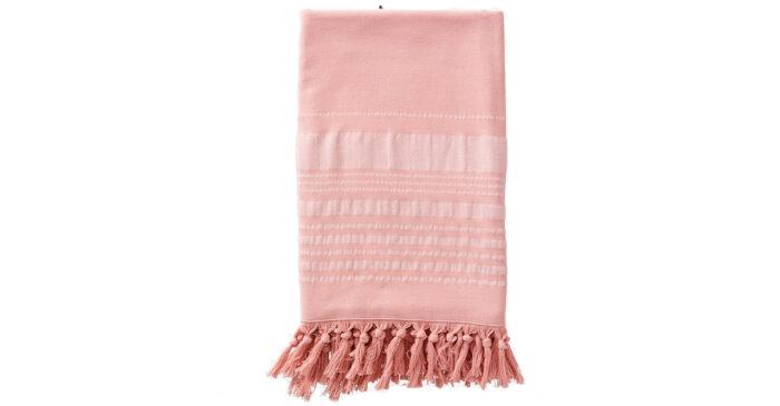 Handduk med fransar