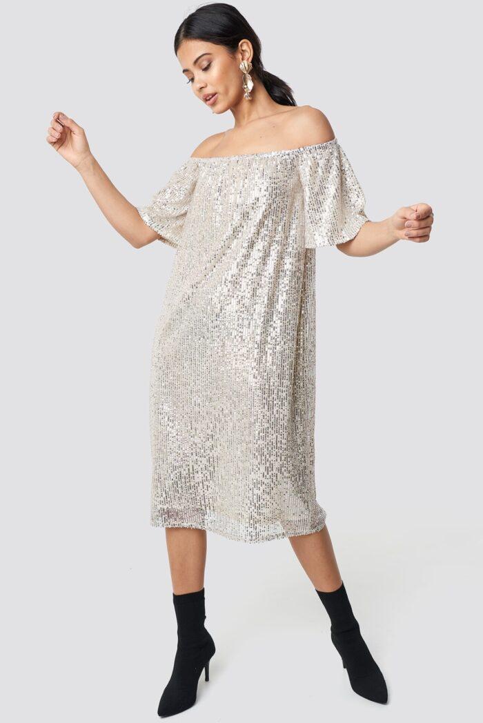 Paljettklänning för dam till nyårsafton 2019