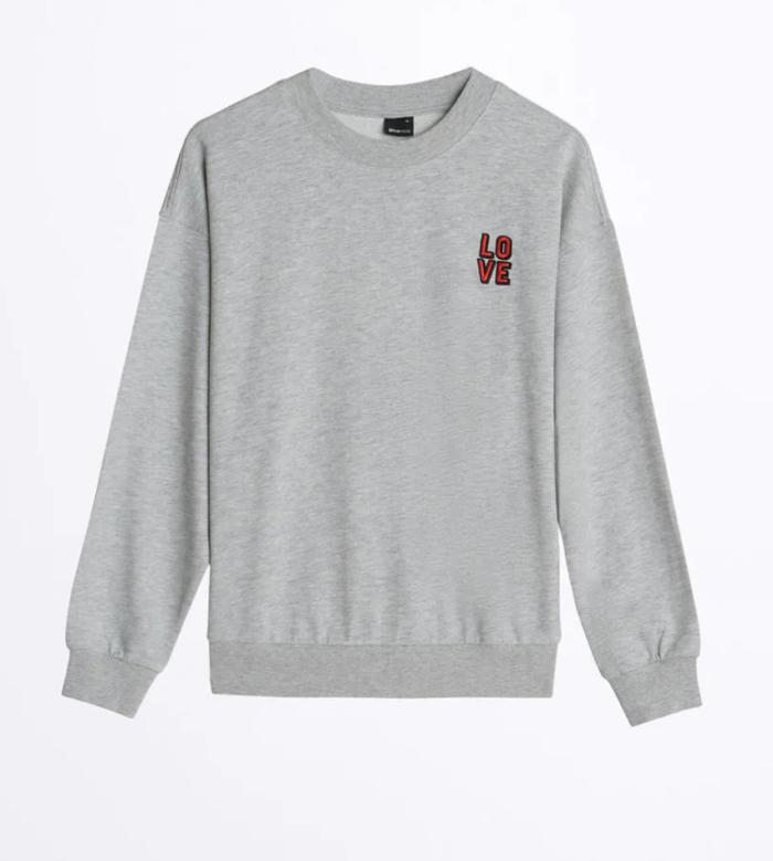 Gina tricot mini – grå sweatshirt