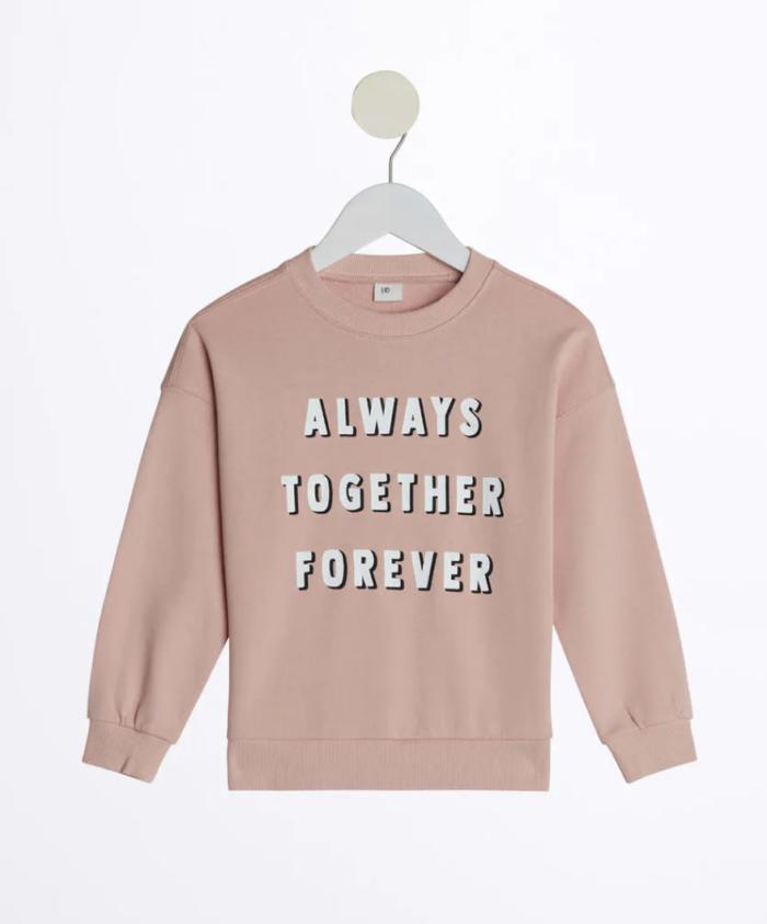 Gina tricot mini –rosa sweatshirt