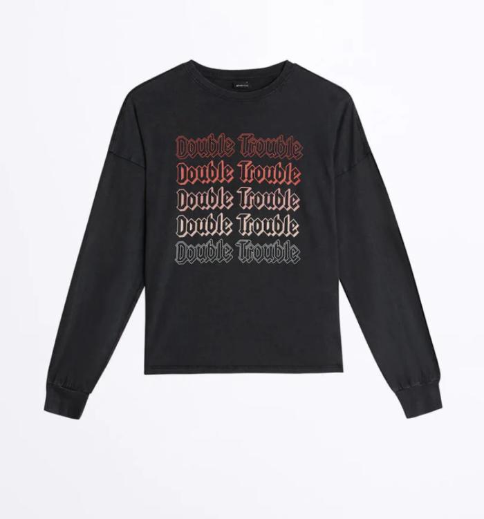 Gina tricot mini –svart långärmad tröja