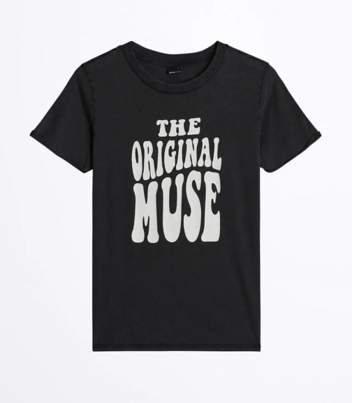 Gina tricot mini –svart t-shirt
