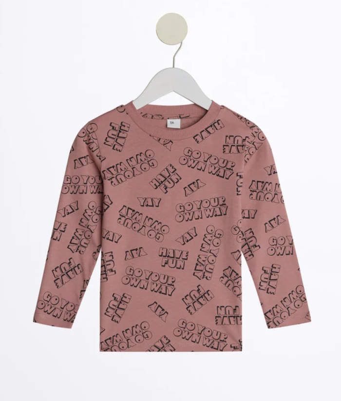 Gina tricot mini –tröja med tryck