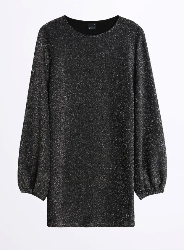 Glittrig festklänning för dam till vintern 2019