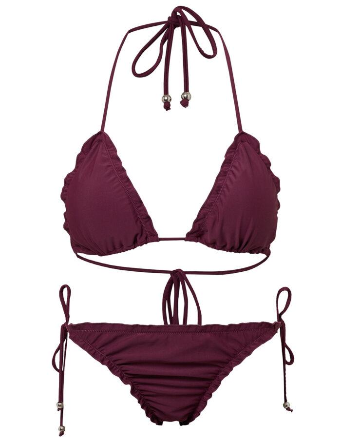 Vinröd bikini för dam till vintern 2019/2020