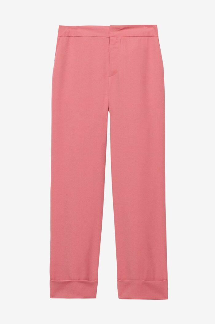 Rosa kostymbyxor för dam till fest