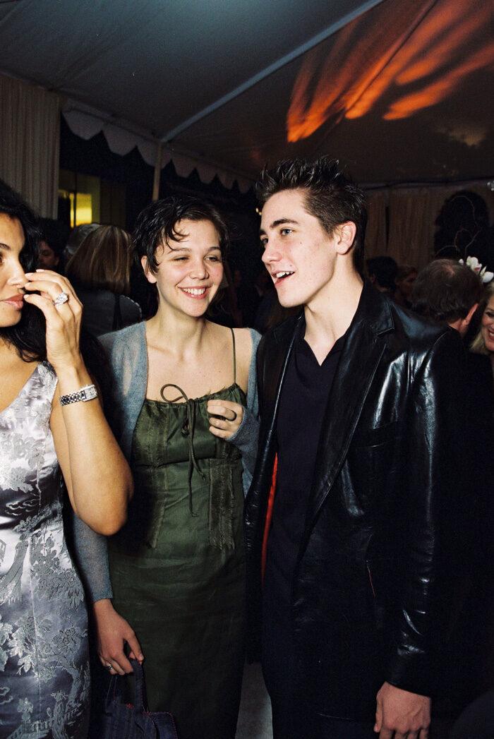 En bild på Maggie och Jake Gyllenhaal, 1999.