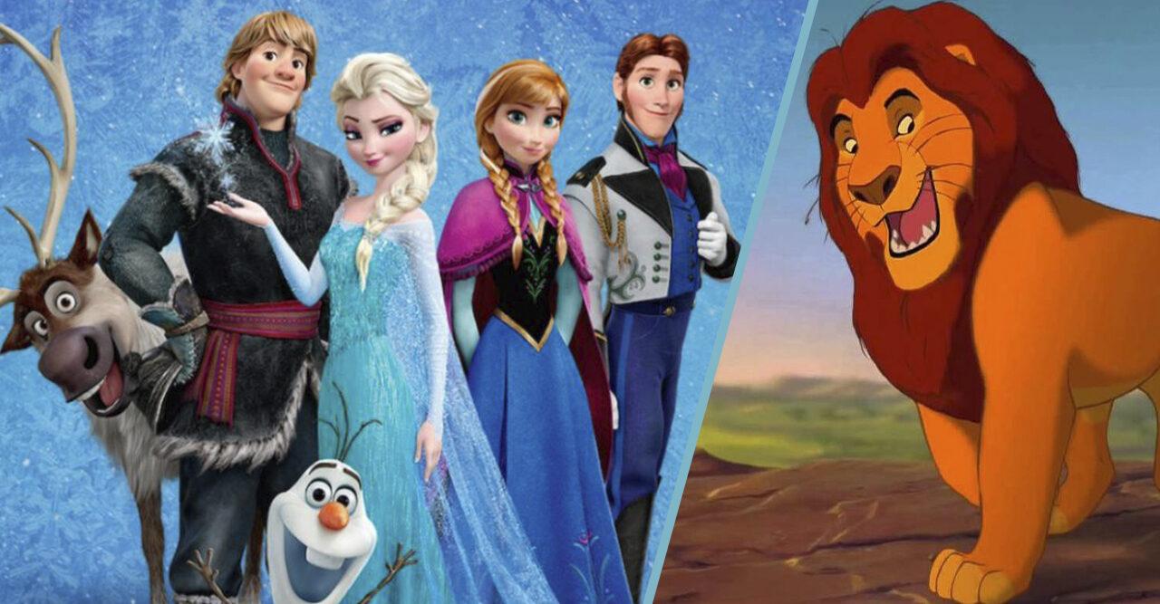 frost och lejonkungen i splitbild