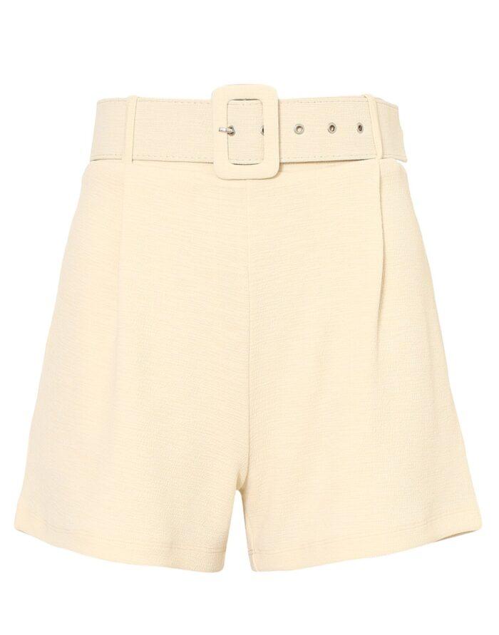 Beige shorts med hög midja för dam till 2020