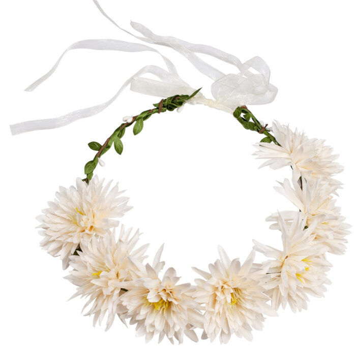 Vit krans med vita blommor