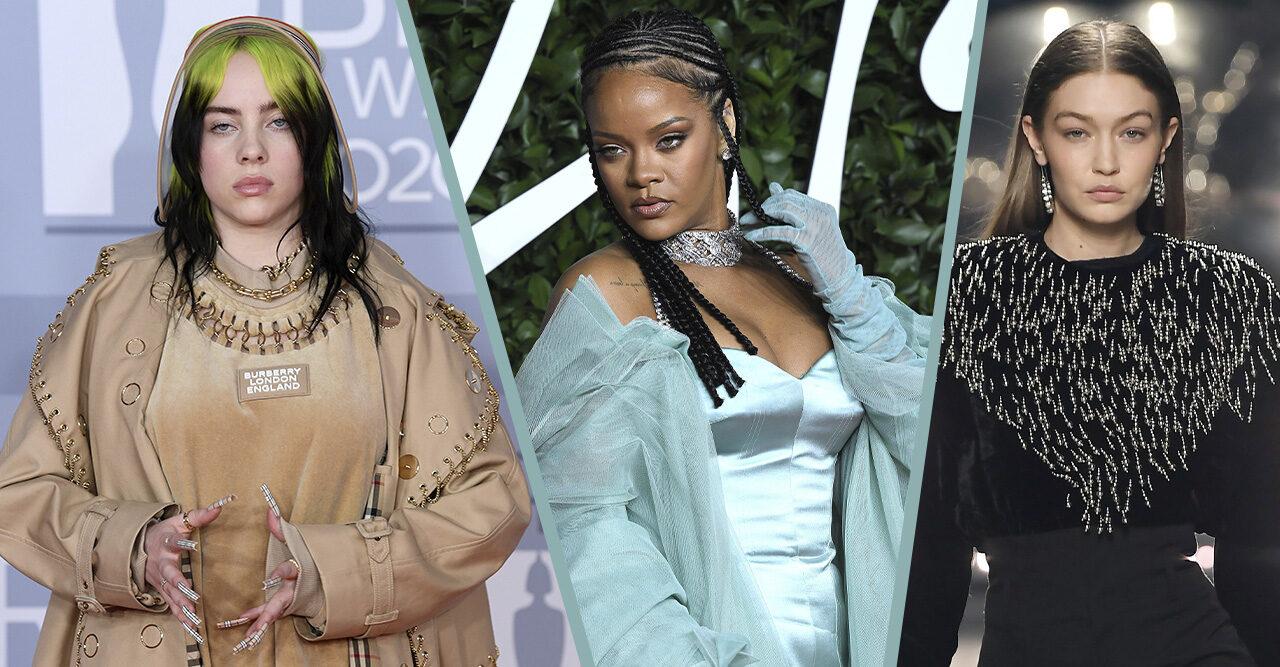 Billie Eilish, Rihanna, Gigi Hadid