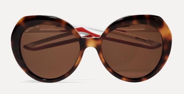 Bruna solglasögon från Balenciaga på rea