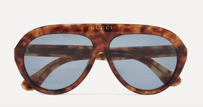 Brunmelerade solglasögon från Gucci på rea