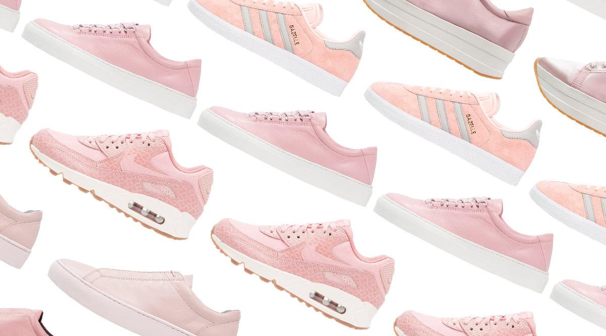 nuovo concetto 3d824 271c4 15 par rosa sneakers som alltid är helrätt | Baaam