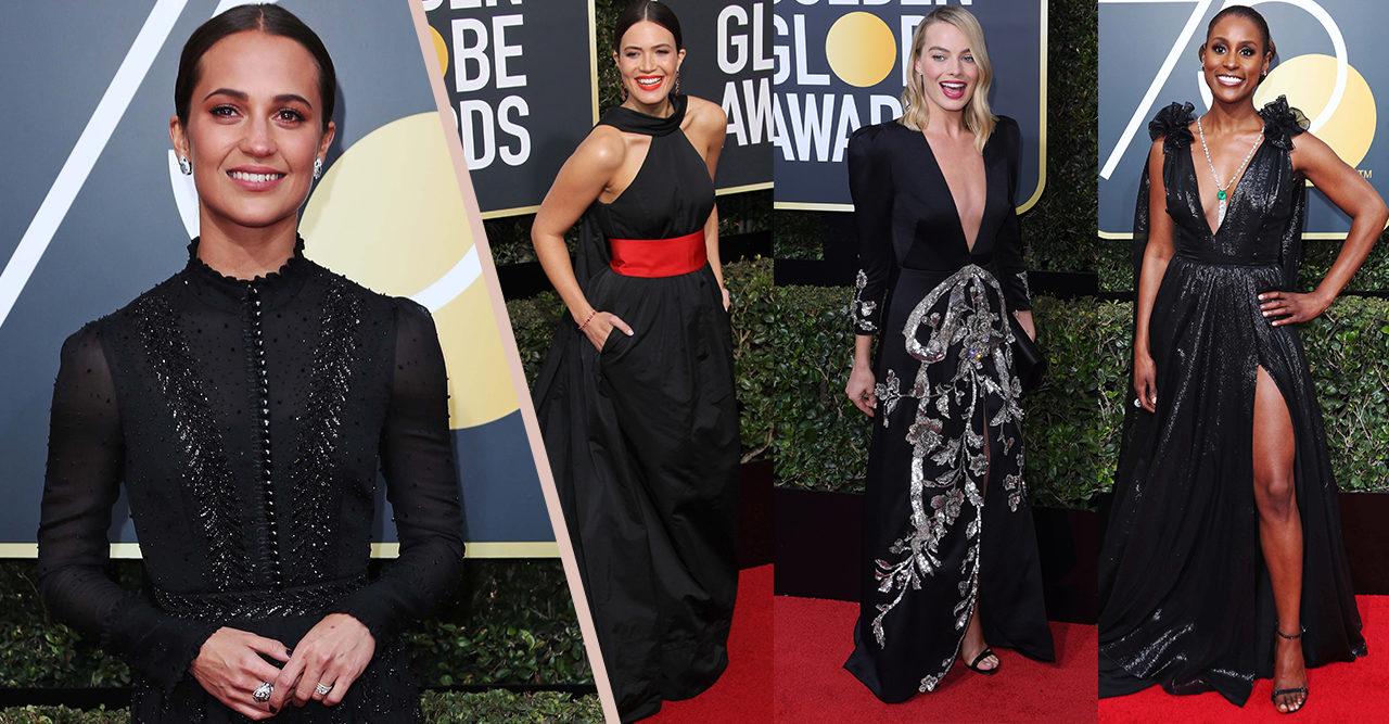 Golden Globe 2018: Gästerna tog ställning i svarta klänningar