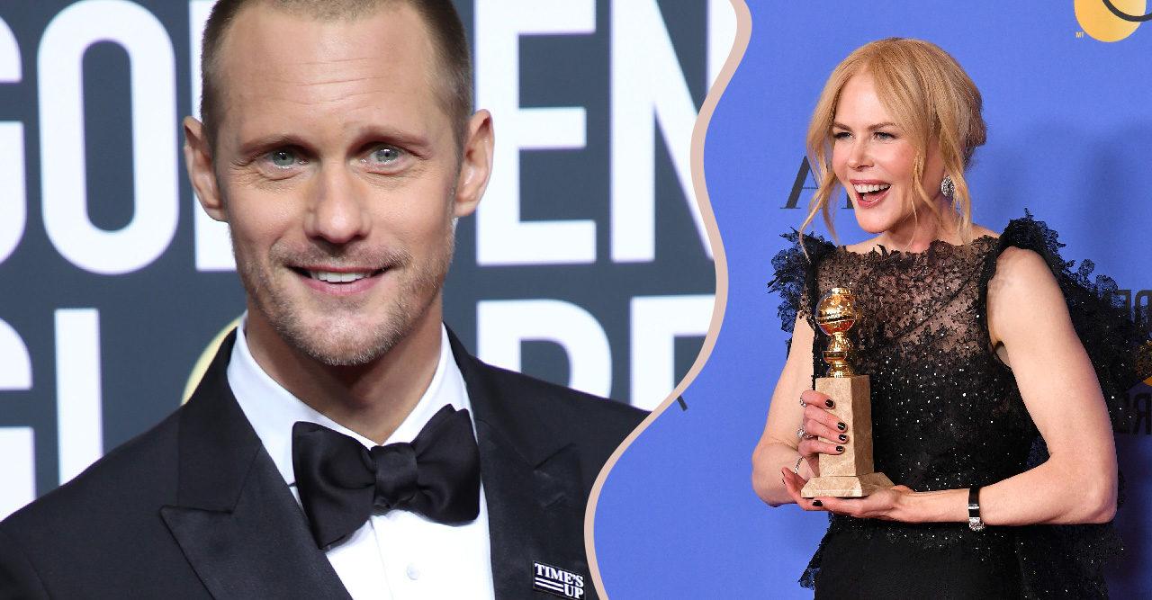 """Se Skarsgård hylla Nicole Kidman i vinnartalet: """"Älskar dig"""""""