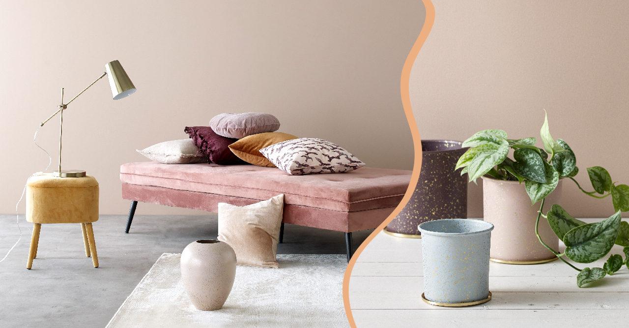 Pasteller, sammet och guld i Ellos Homes vårkollektion
