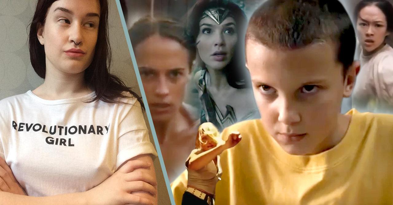 Sannas video visar girl power från filmvärlden – och vilka som run the world