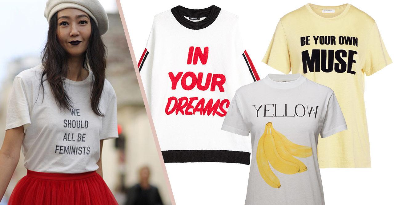 Gör garderoben roligare – 20 t-shirts och tröjor med tryck