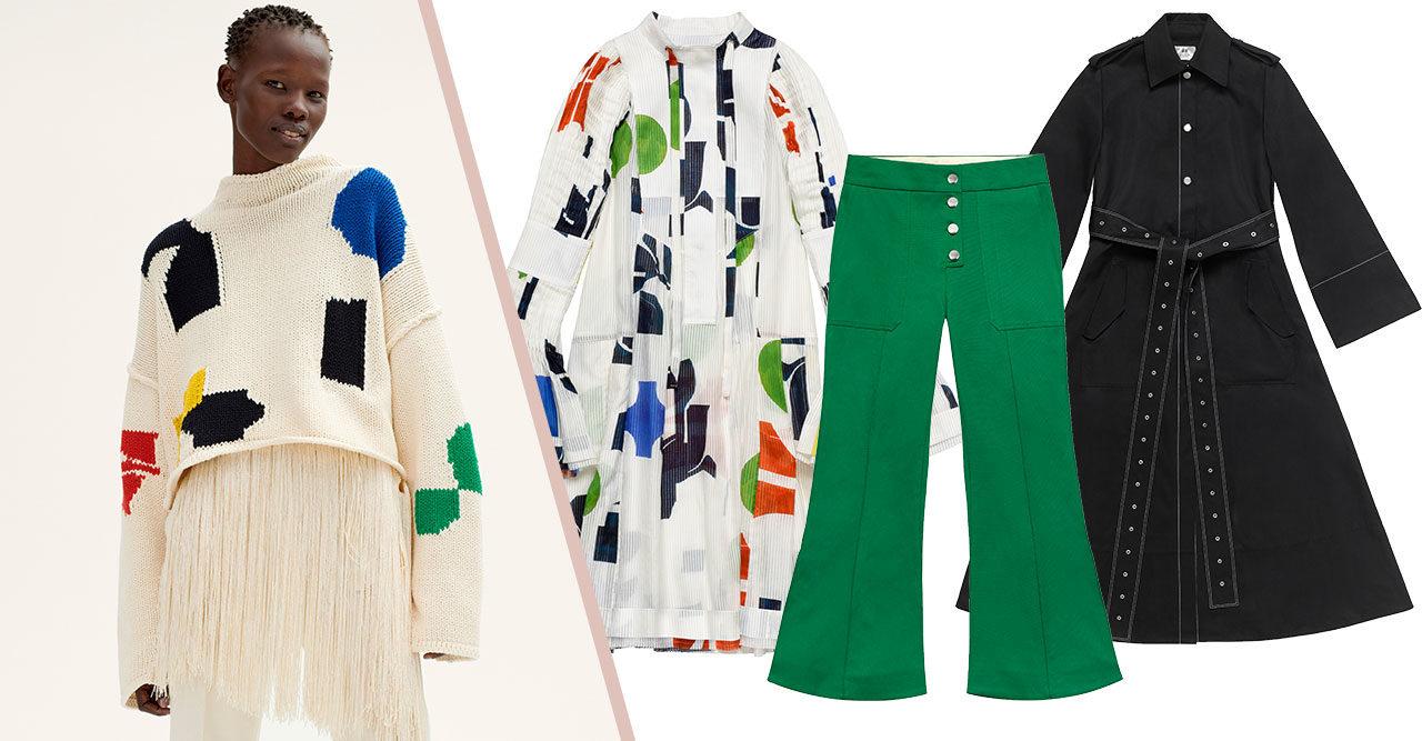 Färglada tryck och utsvängda byxor – då släpps H&M Studios vårkollektion