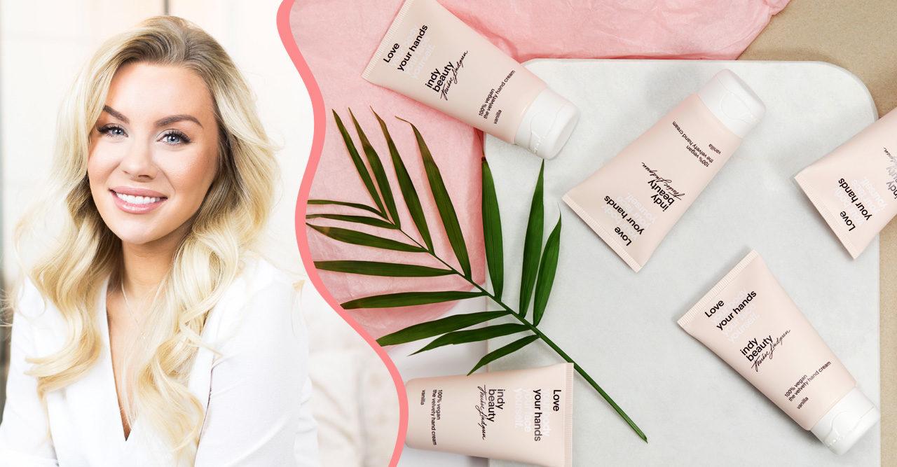 Therése Lindgren lanserar veganska skönhetsmärket Indy Beauty