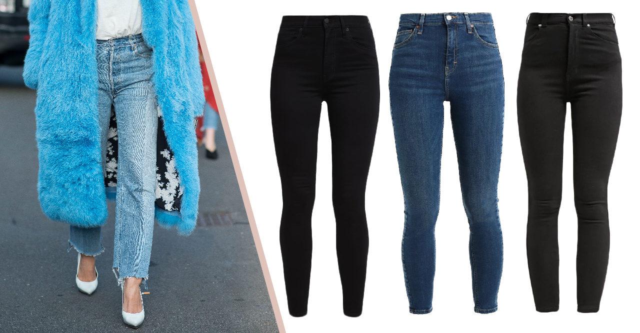 snygga jeans för mulliga