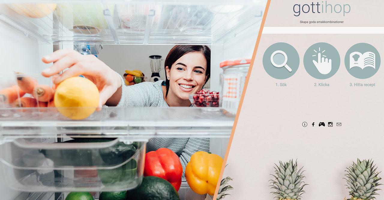 sök recept med ingredienser