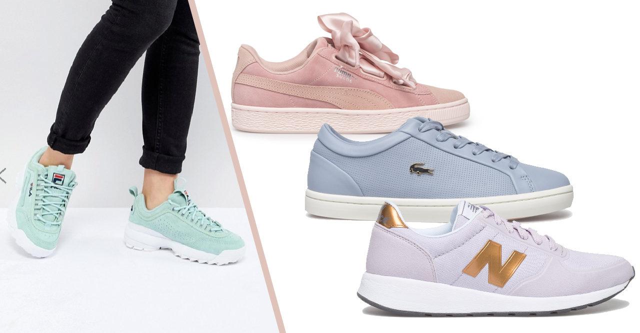 Karamell i pastell – 30 sneakers att inviga våren i