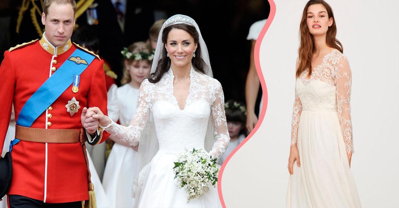 782488eb6abf Brudklänningen är kusligt lik Kate Middletons – och du har råd med den