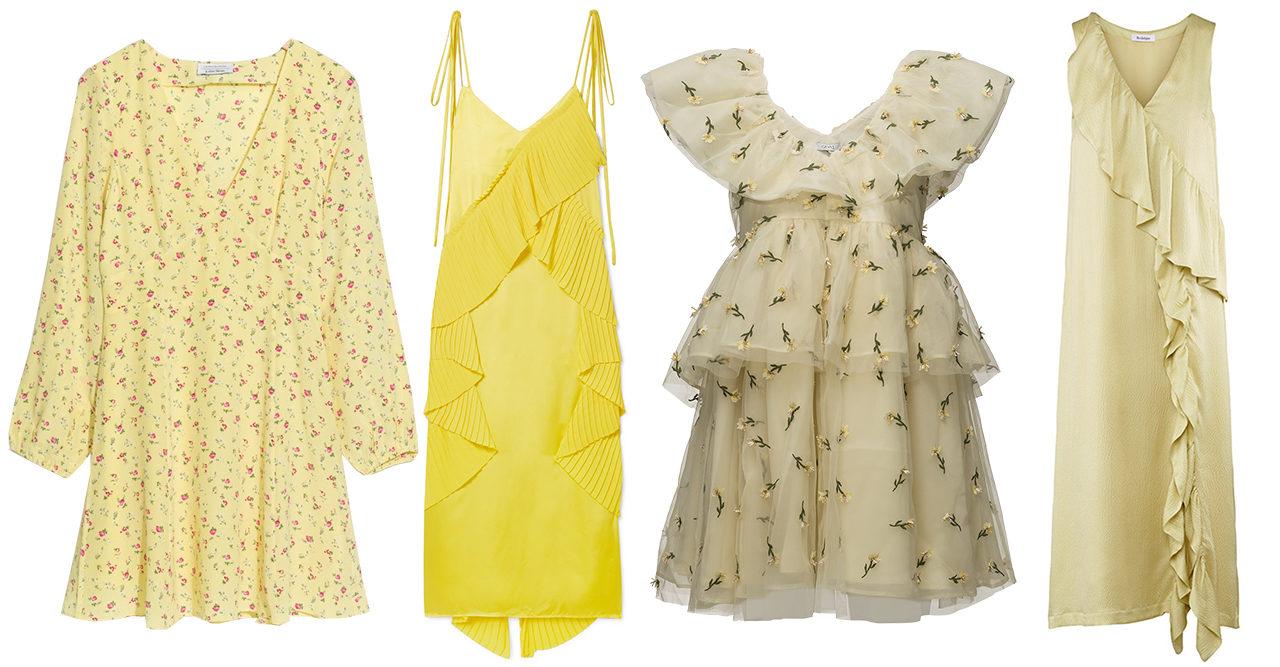 Yellow fellow! Säsongens snyggaste klänningar i trendfärgen