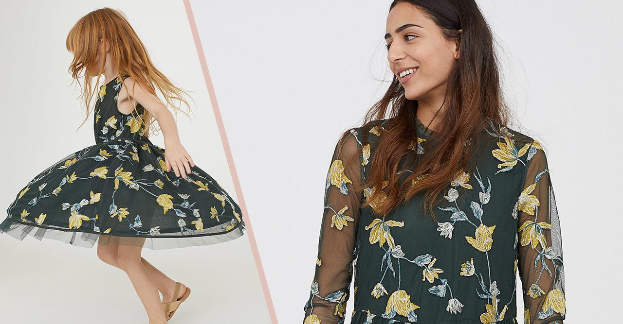 matchande klänningar mor och dotter