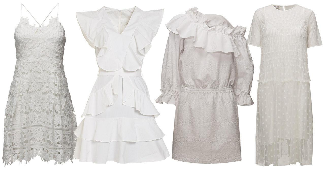 35 snygga vita klänningar – perfekta till studenten
