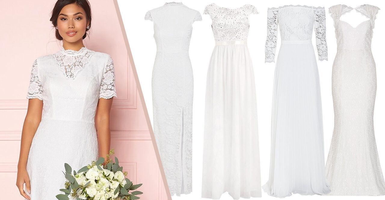 e1f79fd92106 Billiga brudklänningar: 30 fina köp till bröllopet 2019 | Baaam