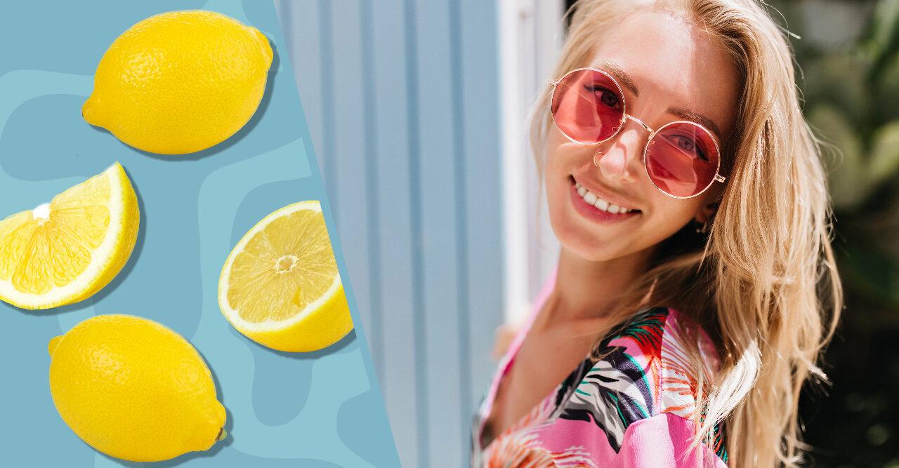 bleka håret hemma med citron