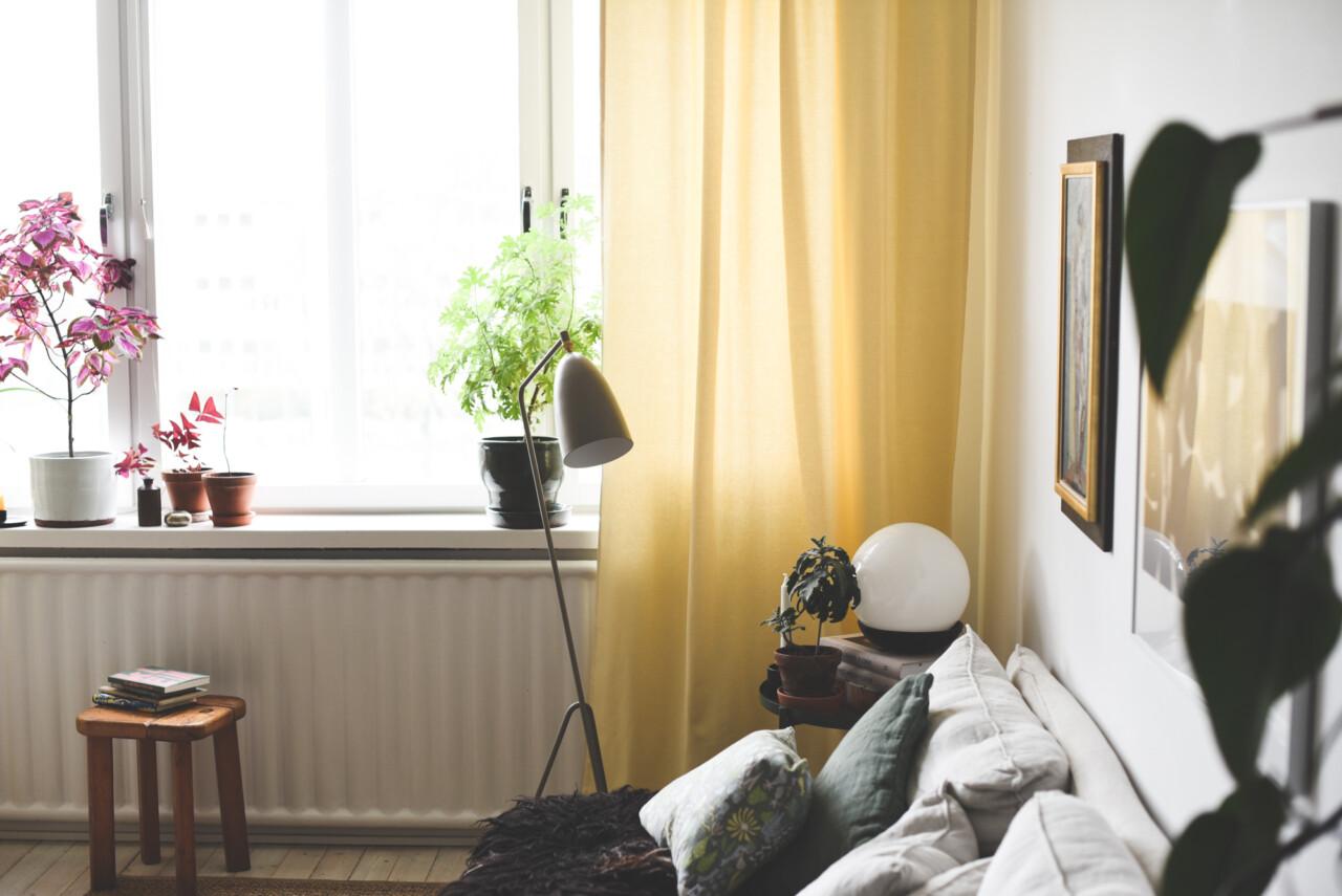 Nya gardiner hemma hos oss