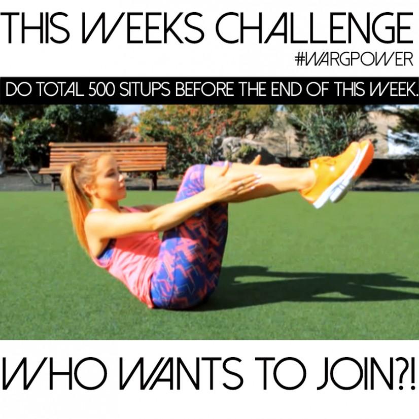 veckans utmaning situps