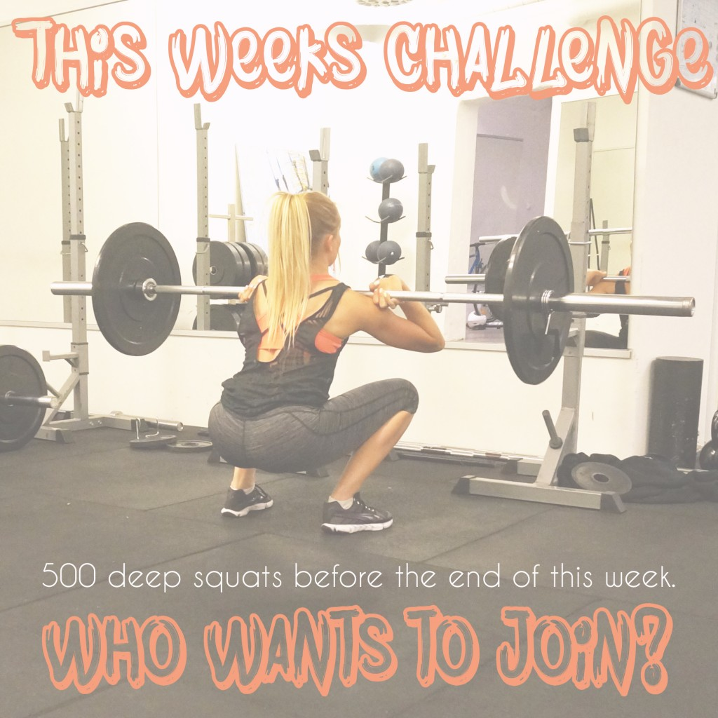 this weeks challenge