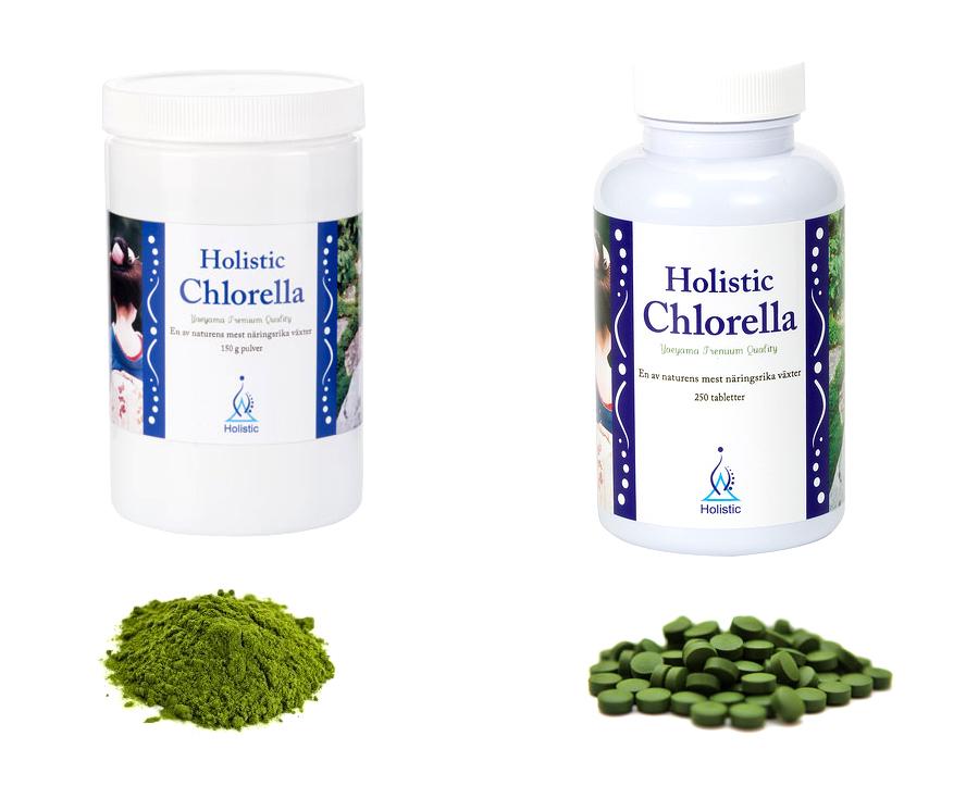 chlorella tabletter biverkningar