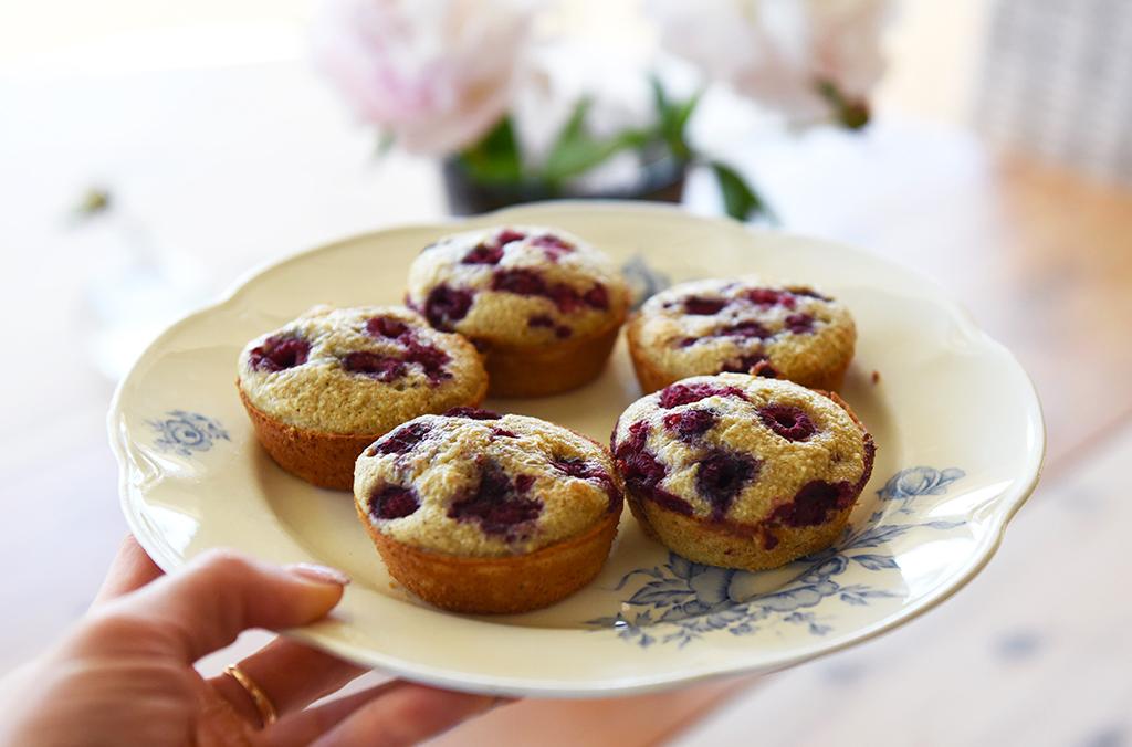 hallon-muffins