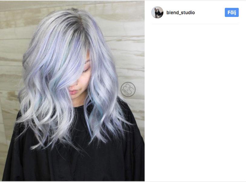 silver blå hårfärg