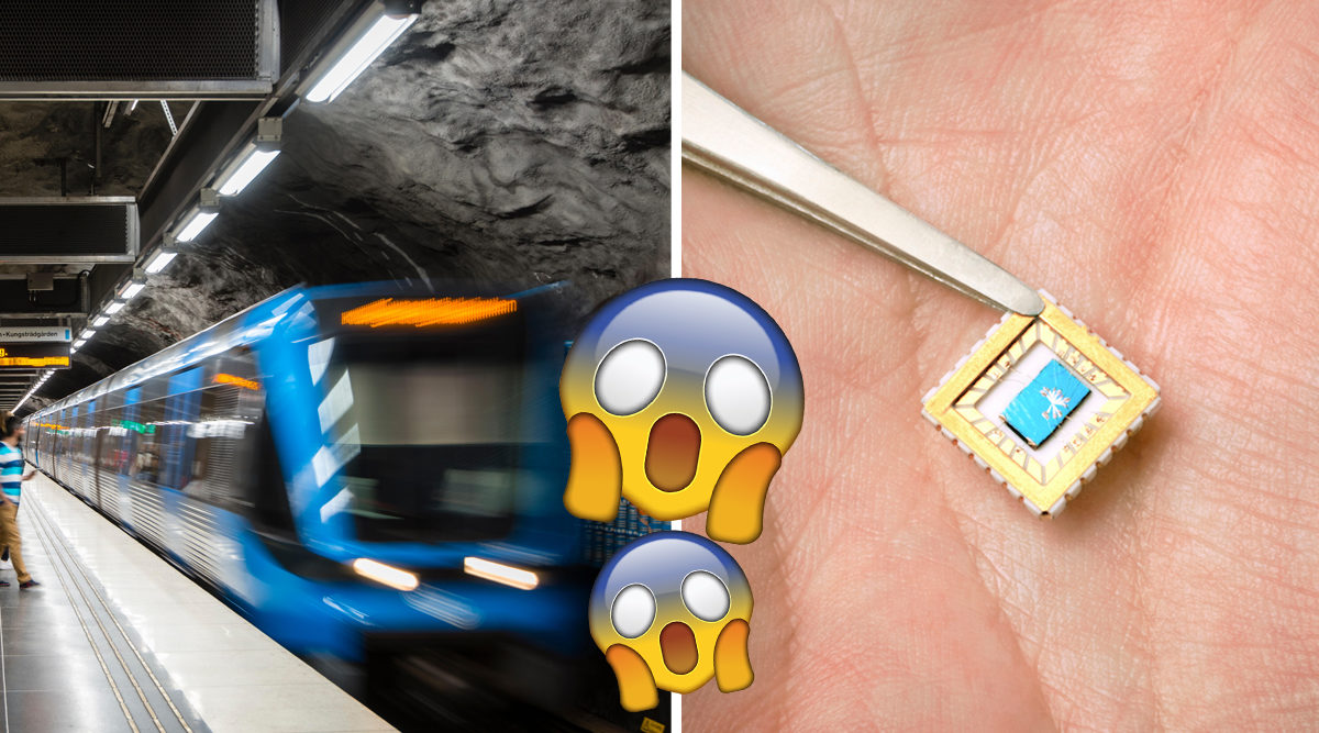 chip i handen tunnelbana