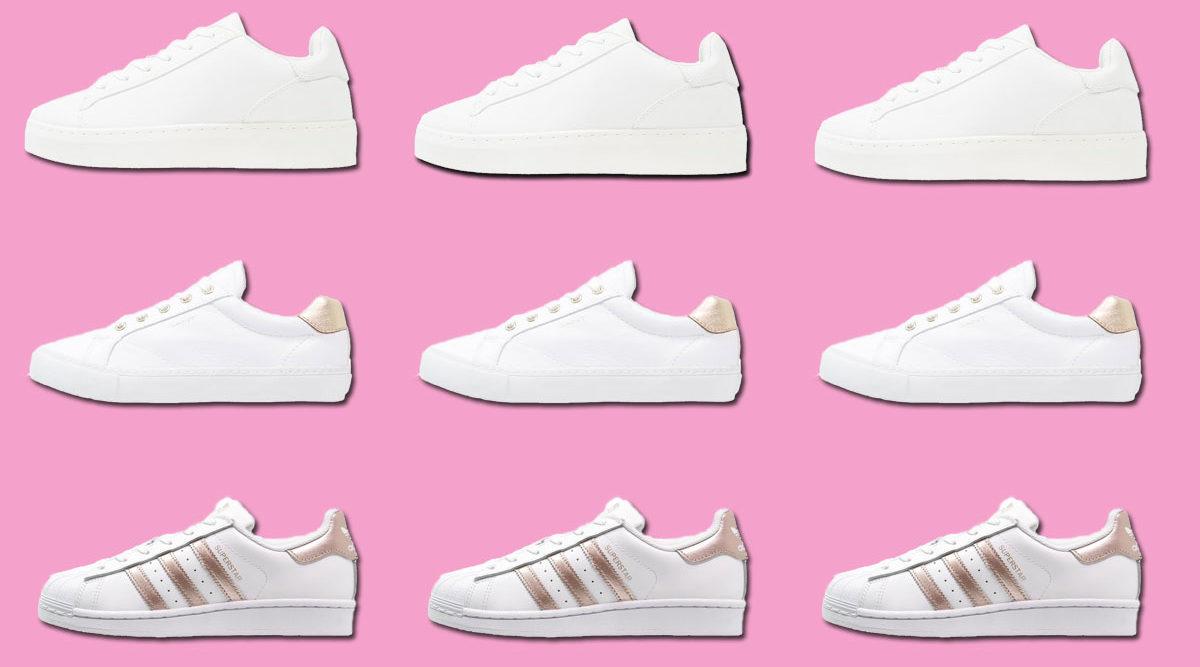 snygga vita sneakers