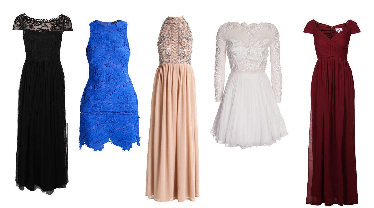 snygga långa klänningar