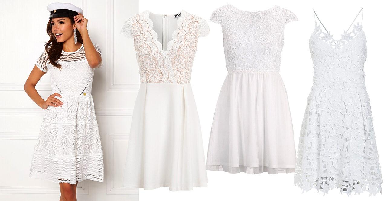 vita studentklänningar 2019